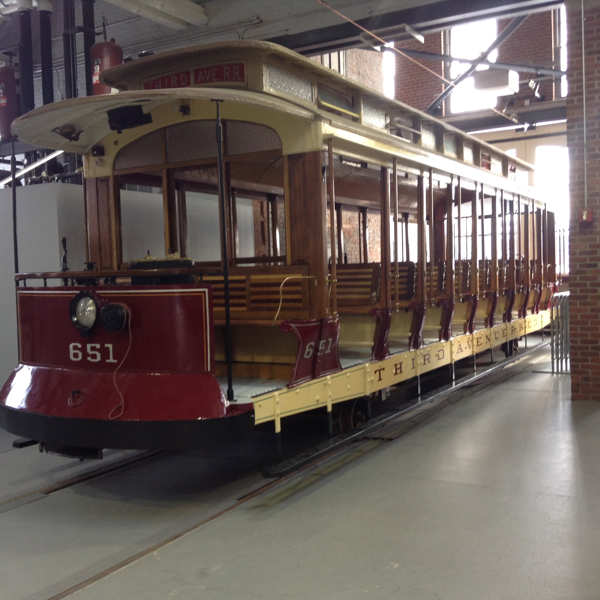 Open Car #651 at the Museum