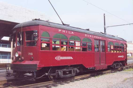 Closeup Photo of Car #76 at Steamtown Loading Platform