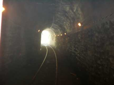 View inside tunnel